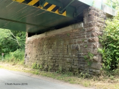 289600: Bridge SAC/297 - Winskill Road (PROW - minor road): Detail view from the East