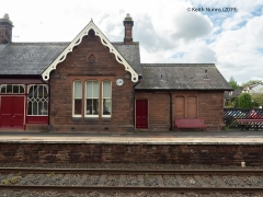 292560: Lazonby & Kirkoswald Station - Main Building & Booking Office (Down): Elevation view from the East