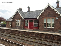 292560: Lazonby & Kirkoswald Station - Main Building & Booking Office (Down): Elevation view from the North East