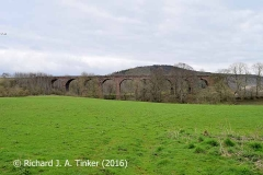 Bridge SAC/320 (Armathwaite Viaduct): west elevation 1, complete and in context.