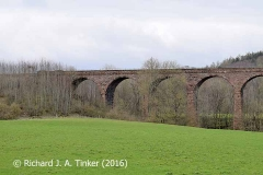 Bridge SAC/320 (Armathwaite Viaduct): west elevation, image A - north end.