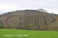Bridge SAC/320 (Armathwaite Viaduct): west elevation, image B - central-section.
