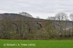 Bridge SAC/320 (Armathwaite Viaduct): west elevation, image C - south end.