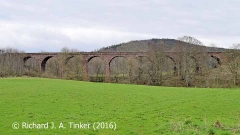 Bridge SAC/320 (Armathwaite Viaduct): west elevation (full)