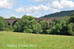 Bridge SAC/320 (Armathwaite Viaduct): west elevation, centre (1)