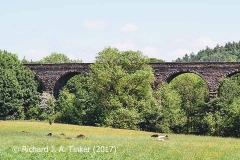 Bridge SAC/320 (Armathwaite Viaduct): west elevation, centre (3)