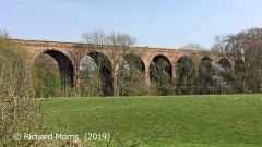 Armathwaite Viaduct: Elevation view from the north-northwest.