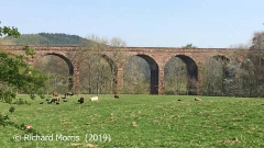 Armathwaite Viaduct: Elevation view from the west