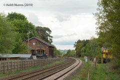 298230: Armathwaite Station - Goods Shed: Context view from the South