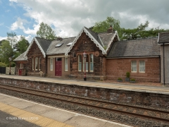 298110: Armathwaite Station - Main Building & Booking Office (Down): Elevation view from the east