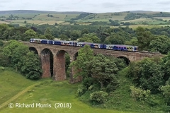 Dry Beck Viaduct: Aerial view from west (via drone with landowner's permission).