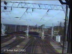Carlisle Citadel Station: Cab-view, northbound (forwards).