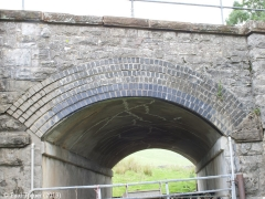 Bridge No 177 - Keel Well: Elevation view of arch from East