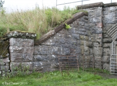Bridge No 177 - Keel Well: Elevation view of South-East wing wall