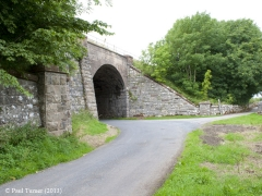 Bridge No 178 - Wharton: Context view from South-East