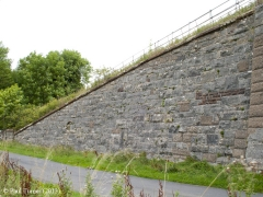 Bridge No 178 - Wharton: Elevation view of North-West wing wall