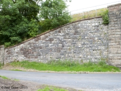 Bridge No 178 - Wharton: Elevation view of South-East wing wall