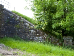 Bridge 172 - Back of Birkett: Elevation view of North-East wing wall