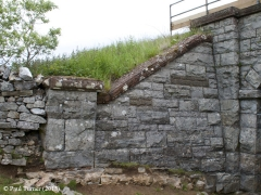 Bridge No 179 - High Park (footpath): Elevation view of North-West wing wall