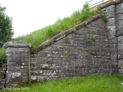 Bridge No 179 - High Park (footpath): Elevation view of South-East wing wall