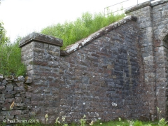 Bridge No 180 - Wharton Hall (footpath): Elevation view of South-East wing wall