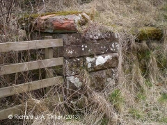 Bridge SAC/249 (Croft Ends Road): Capstone on east abutment wing-wall