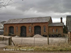 Long Marton Station Goods Shed: North-east elevation view