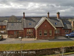 Long Marton Station former Booking Office: North-east elevation view