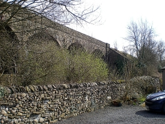Church Viaduct - B6480: Elevation view from the north west