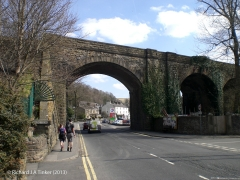Church Viaduct - B6480: Elevation view from the west