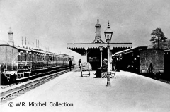 The island platform at Garsdale Station, with MR and NER trains