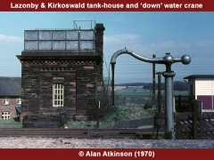 Lazonby & Kirkoswald Station Down Water Column: South-west elevation view