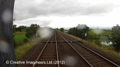 Cab-view image: Level Crossing (accomodation footpath - PRIVATE)
