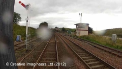 266480: Kirkby Stephen Signal Box (1875 - 1974):Cab-view video still (northbound