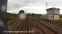 266505: Kirkby Stephen Signal Box (1974 - present): Cab-view video still