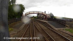 266540: Kirkby Stephen Station - Water Column (Up side): Cab-view video still