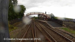 266580: Kirkby Stephen Station - Passenger Platform (Down): Cab-view video still