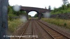 269800: Bridge SAC/201 - Stubside (PROW - bridleway / track): Cab-view video
