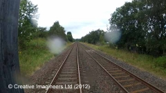 269820: Platelayers' Hut: Cab-view video still (northbound)
