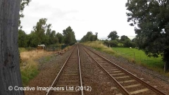 274730: Ormside Station - Goods Shed: Cab-view video still (northbound)