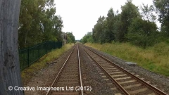 274820: Ormside Station - Passenger Platform (Up): Cab-view video still