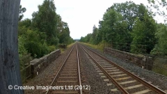 274850: Bridge SAC/229 - Leazes Hill (PROW - minor road): Cab-view video still