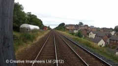 277020: Appleby Station - Sidings (Down): Cab-view video still (northbound)