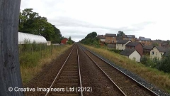 277190: Appleby Station - Sidings (Up): Cab-view video still (northbound)