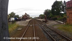277215: Appleby Station - Lamp Hut: Cab-view video still (northbound)