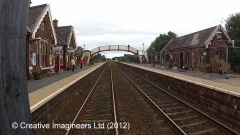 277260: Appleby Station - Waiting Room (Up): Cab-view video still (northbound)
