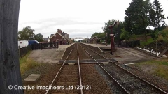 277300: Appleby Station - Passenger Platform (Down): Cab-view video still