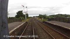 277340: Appleby Station - Water Column (Down side): Cab-view video still