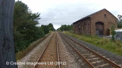 280040: Long Marton Station - Goods Shed: Cab-view video still (northbound)