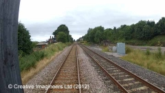 280070: Long Marton Signal Box: Cab-view video still (northbound)